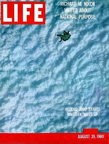 Life mag cover of Kittinger exiting at 100K+