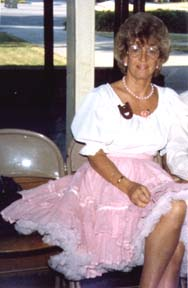 Gina in square dance dress